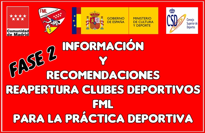 Reapertura Clubes Deportivos Fase 2 - Información y Recomendaciones