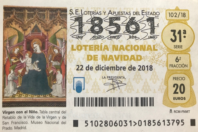 Lotería Navidad 2018 Federación Madrileña De Lucha